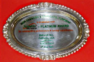 Sugarite Platinum Award